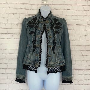 Twenty-One crochet trim denim jackets size S